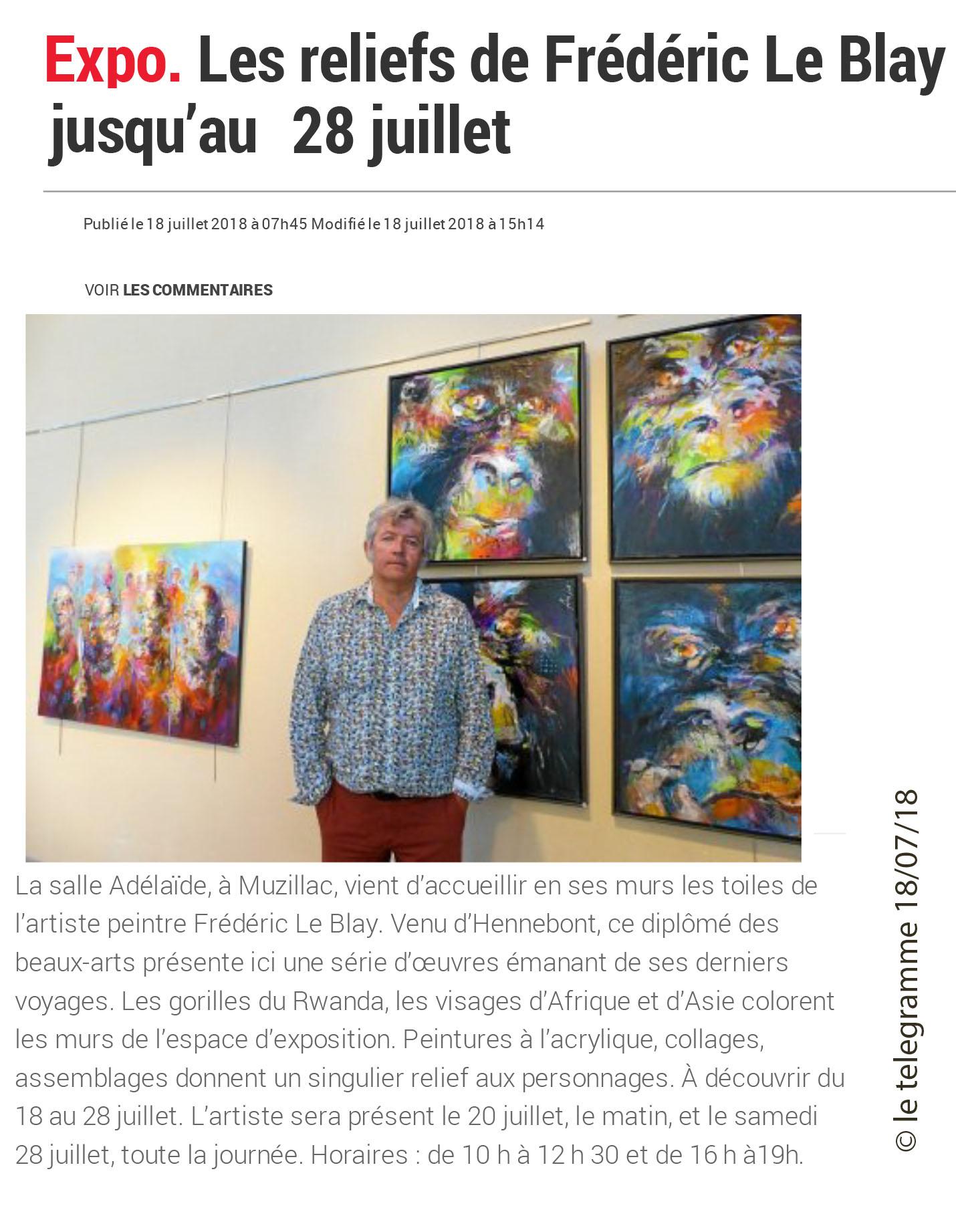 Expo. Les reliefs de Frédéric Le Blay jsuqu'au 28juillet -